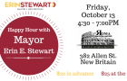 This Friday! Happy Hour Fundraiser at Roma with Mayor Stewart