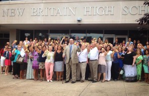 Superintendent Kelt Cooper and Staff in front of NBHS