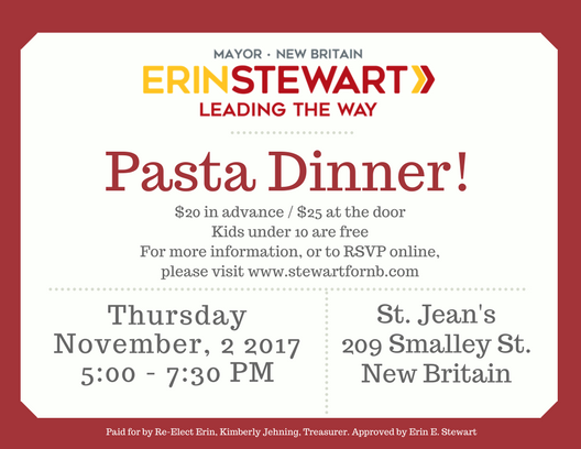 Pasta dinner postcard